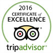 Tripadvisor 2016 - Certificate of Excellence